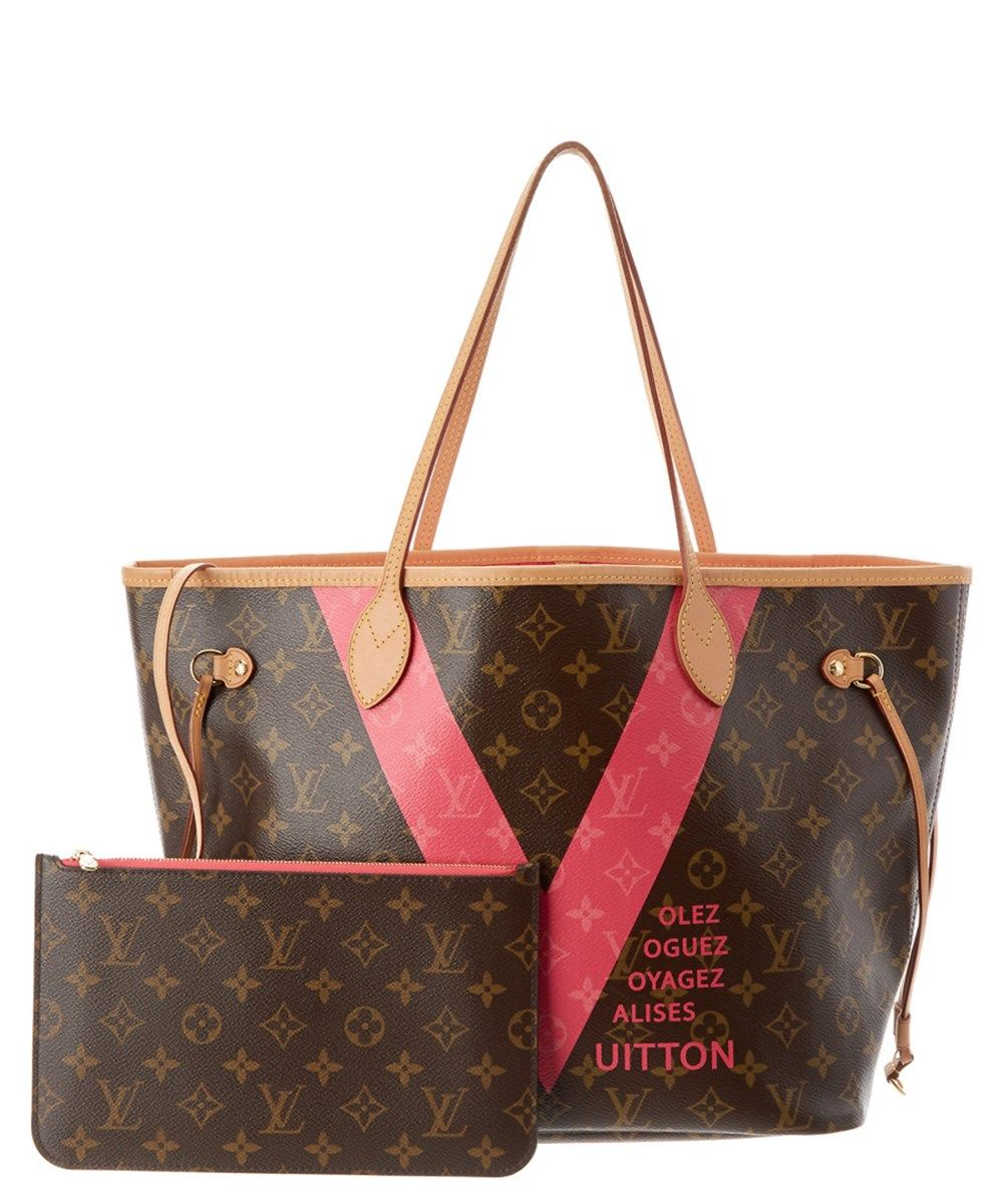 c91d07a017fd LOUIS VUITTON Louis Vuitton Limited Edition Pink V Monogram Canvas Neverfull  Mm Nm .  louisvuitton  bags  shoulder bags  lining  canvas  pouch   accessories ...