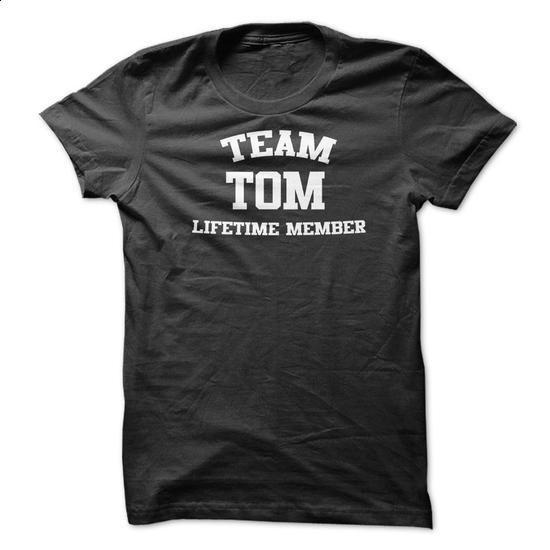 TEAM NAME TOM LIFETIME MEMBER Personalized Name T-Shirt - #shirt cutting #pink tee. SIMILAR ITEMS => https://www.sunfrog.com/Funny/TEAM-NAME-TOM-LIFETIME-MEMBER-Personalized-Name-T-Shirt.html?68278