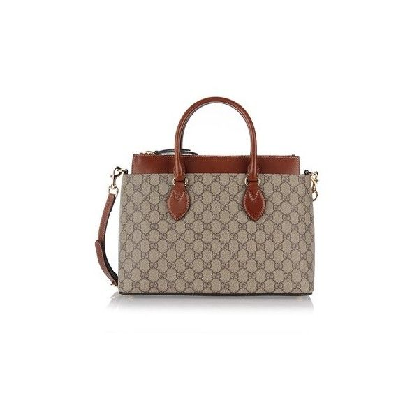 f3be855b14c6 GUCCI 'Linea A' Small Tote Bag in GG Supreme ($1,629) ❤ liked on ...