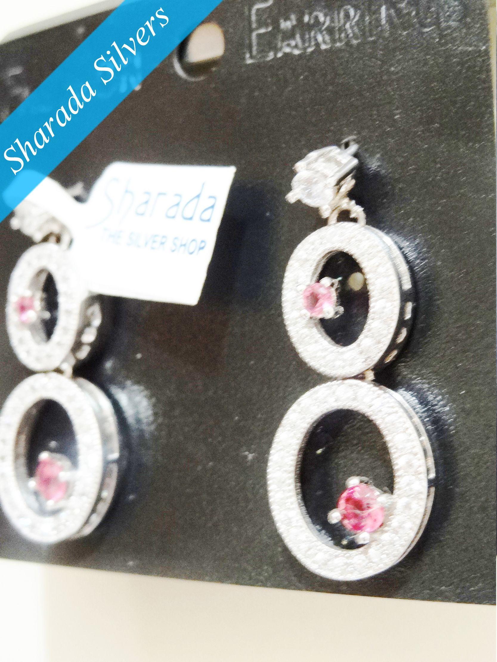 Sharada Silver Shop Peacock Panache Earrings Product Code Sss Er 52 Silver Shop Ruby Earrings Silver