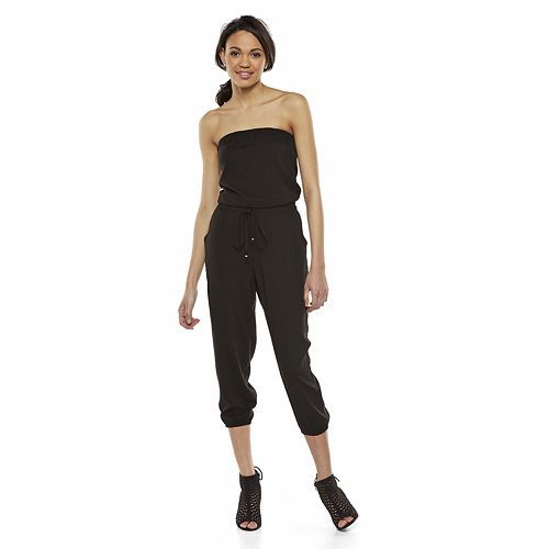 58e63ed1a1f9 Juniors  Mudd® Strapless Jumpsuit