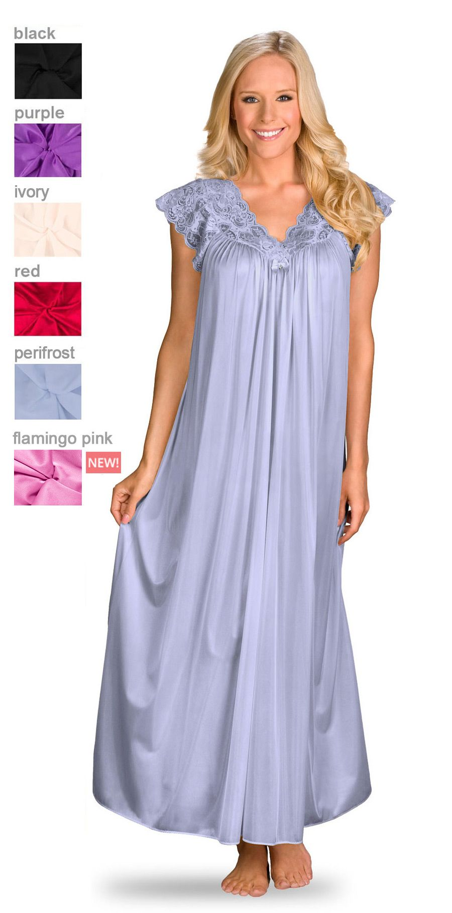 Women\'s Long Cap Sleeve Nightgown | Pinterest | Silhouettes ...