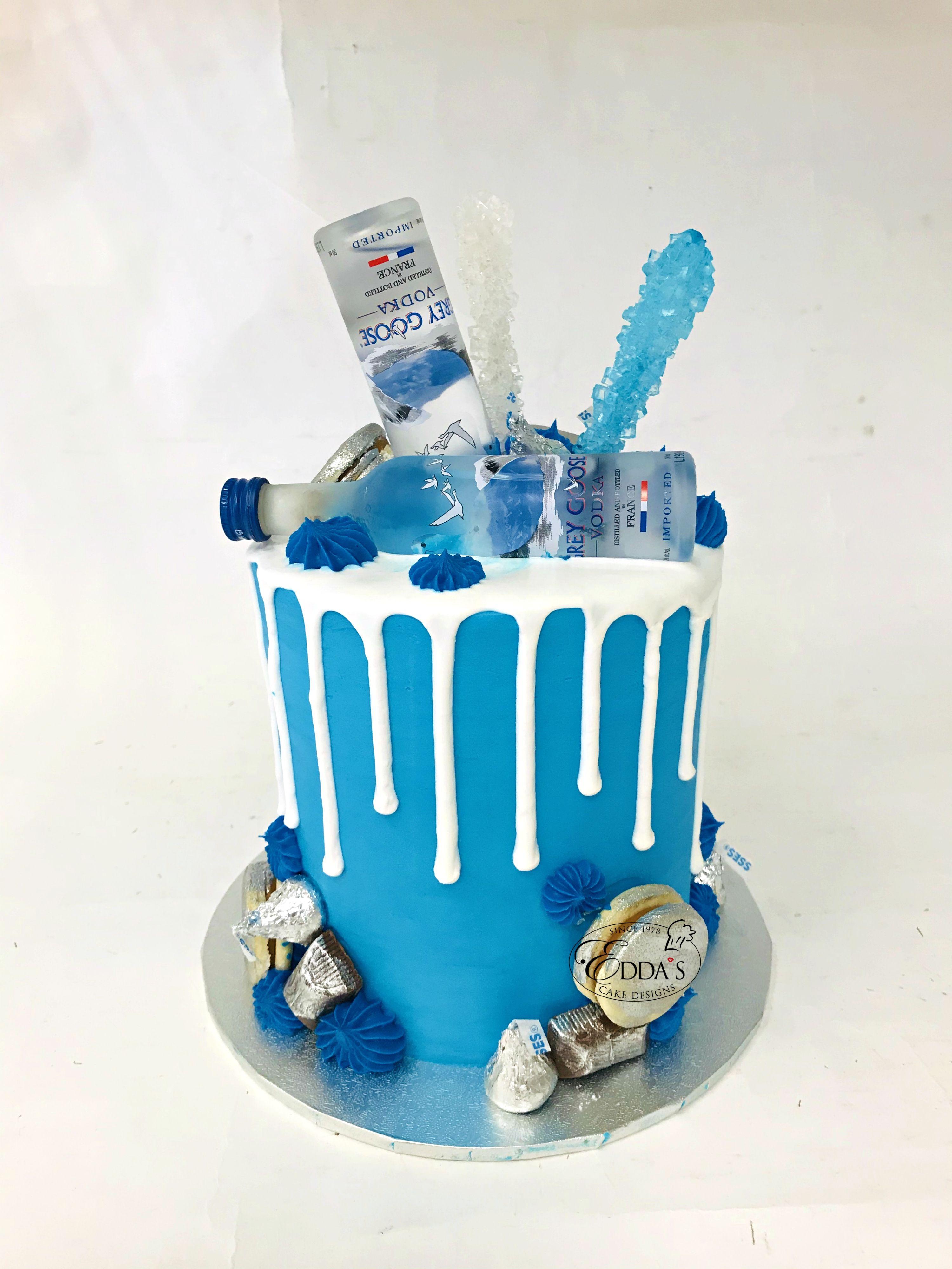 Grey Goose Cake In 2020 Liquor Cake Beer Themed Cake Alcohol Cake