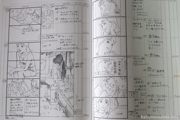 Perfect Blue Storyboard Collection Art Book Kon Satoshi 今敏 - anime storyboard