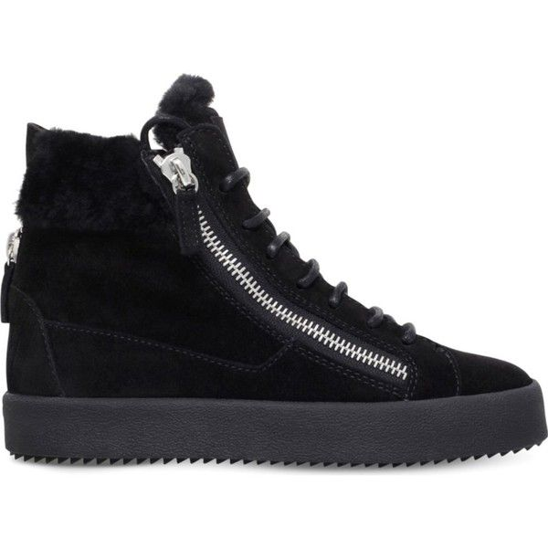 Giuseppe Zanotti Black Swallow Plimsoll High-Top Sneakers OHvu68U8