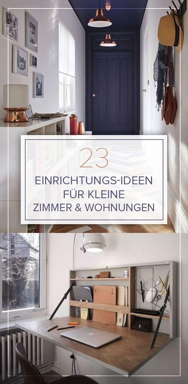 Schon 23 Großartige Einrichtungs Ideen Für Kleine Räume