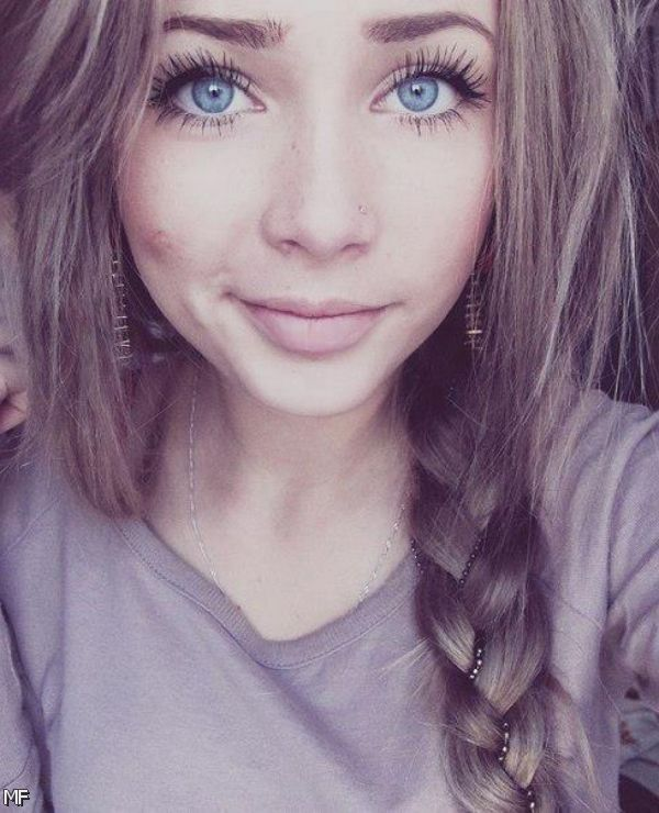 Beautiful Girl With Blue Eyes Tumblr Www Pixshark Com