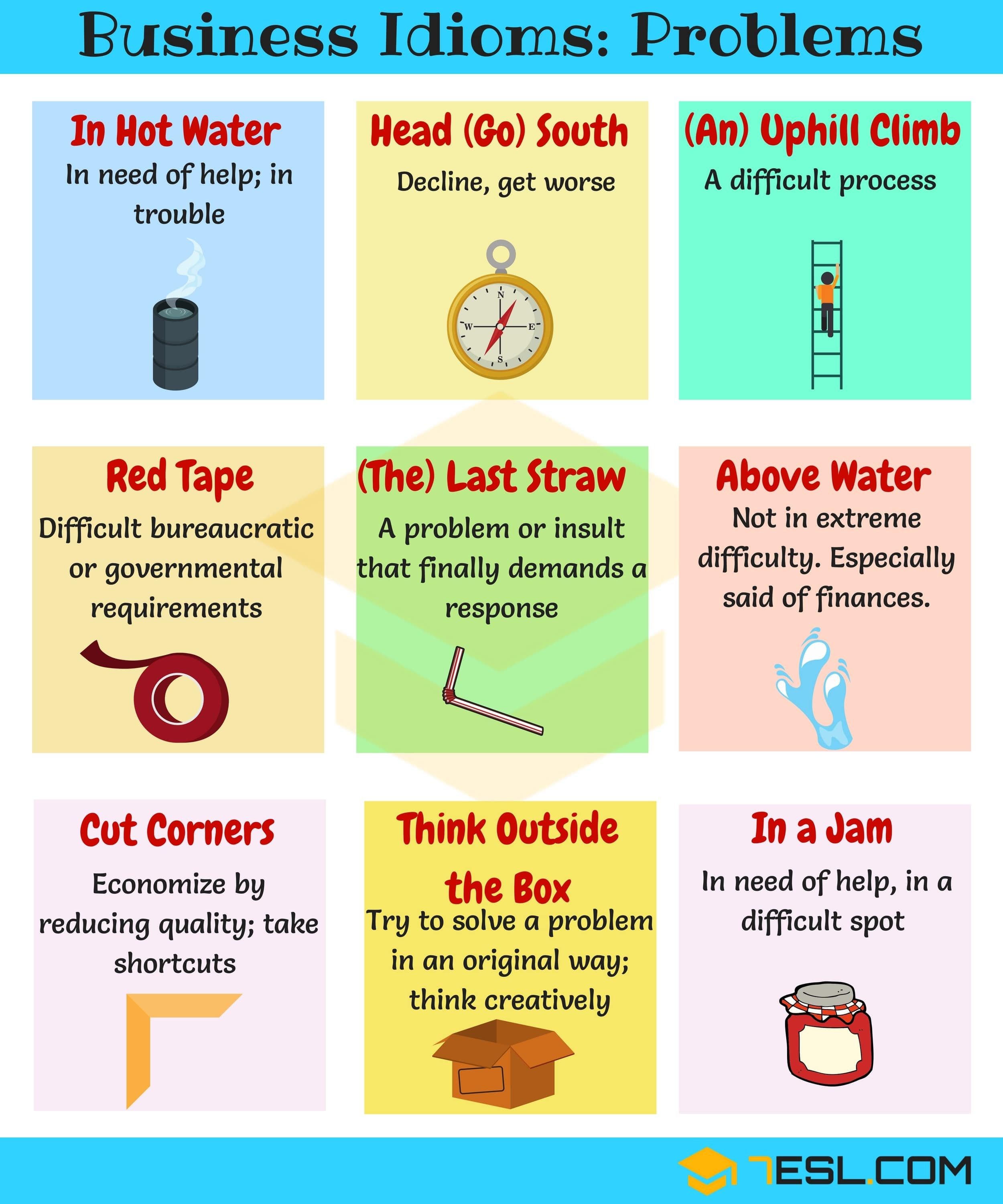 10 Useful Phrases Amp Idioms For Problems And Difficulties