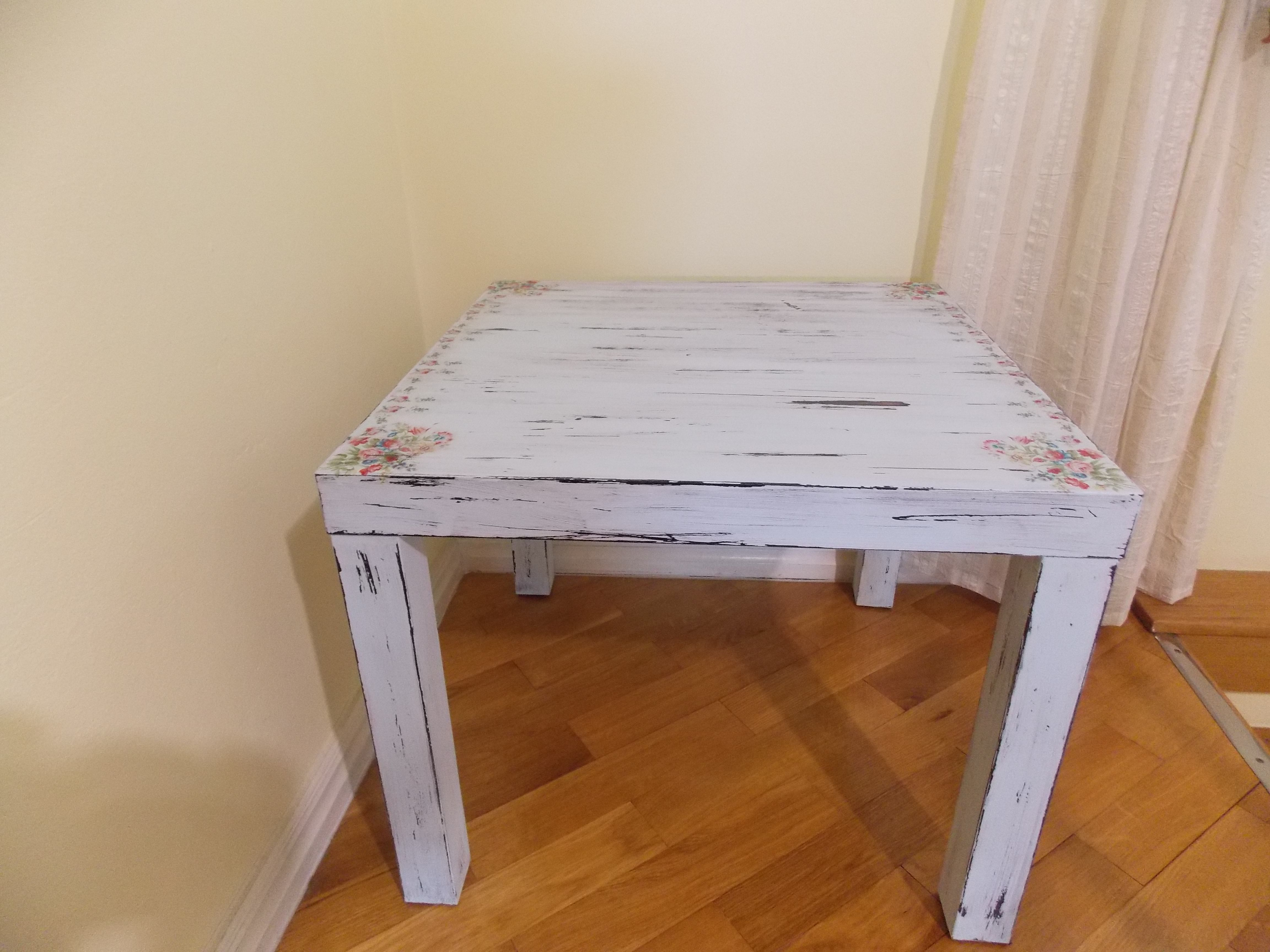 Vintage Ikea Furniture ikea table, shabby chic, distressed furniture, diy table