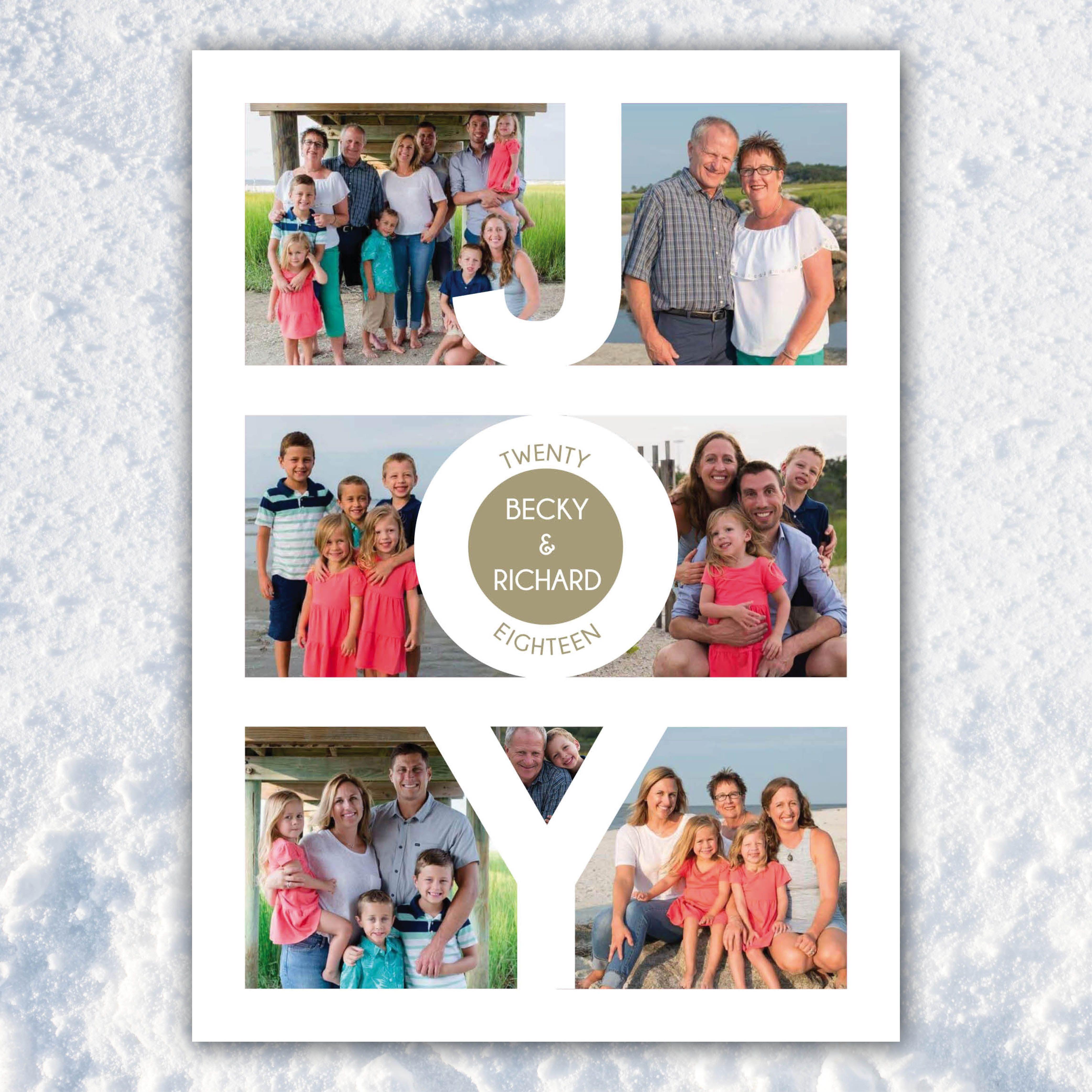 Joy Christmas Card Christmas Photo Cards Family Christmas Cards Christmas Scrapbook Layouts