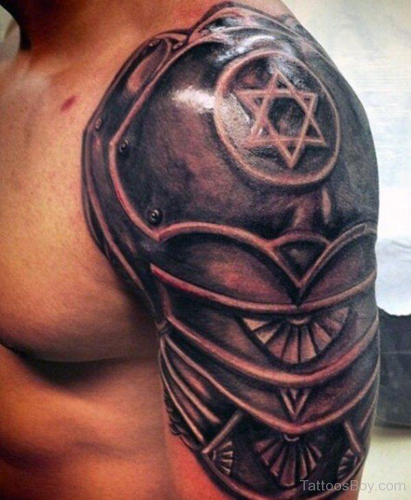 f7de5fd5d13f7 Wonderful Star Armor Tattoo On Sleeve   Tattoos   Armor tattoo ...