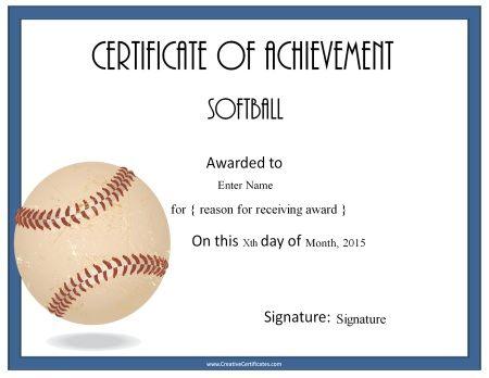 softball award certificate template koni polycode co