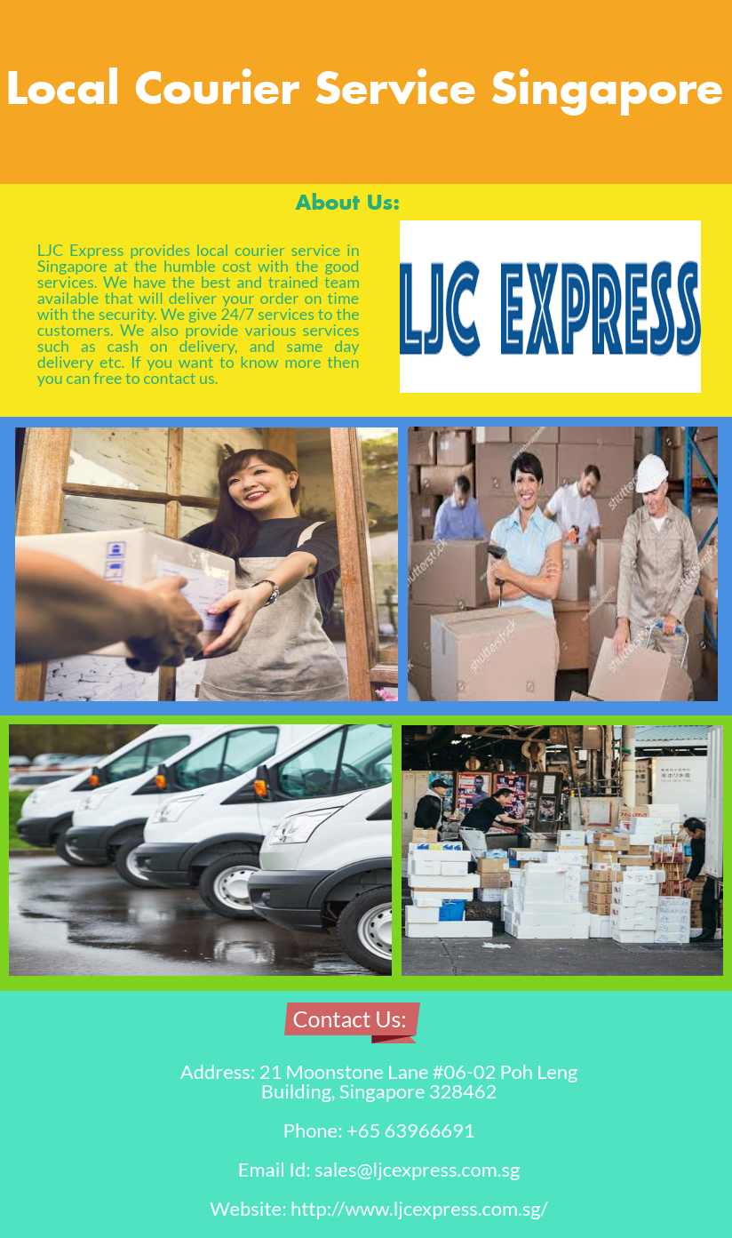 If you are searching for the local courier service in Singapore then