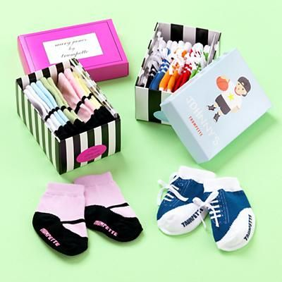 Johnny's High Top Socks & Mary Jane's Socks by Trumpette: Perfect shower gift! #Socks #Babies #Trumpette