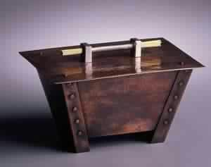 """""""Double Taper"""" Box - Hammered Copper -  Roycroft Master Artisan Robert Taylor - Arts & Crafts - Bungalow"""