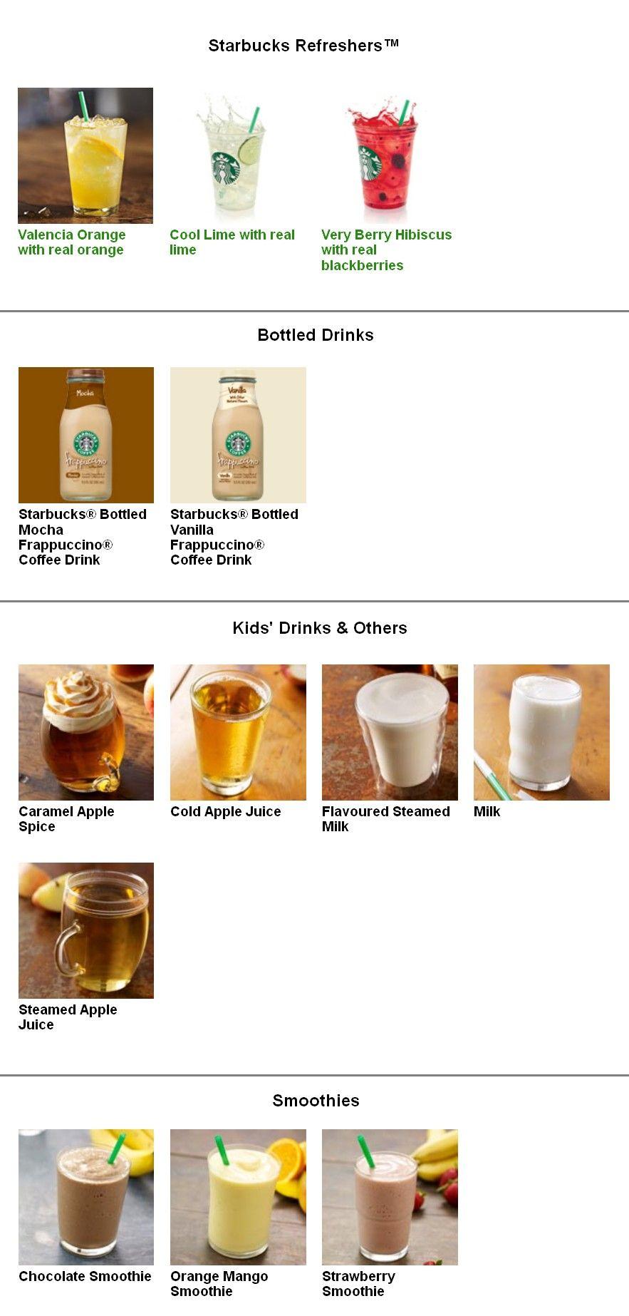 Pin By The Big A Word On Coffee Bean Starbucks Menu Starbucks Kids Drinks Kid Drinks