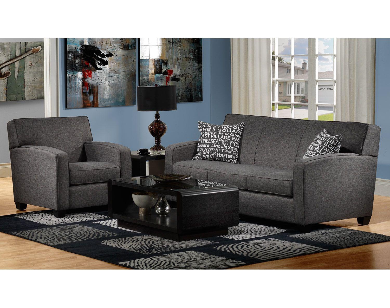 Superb Graphite Sofa #5 - The Falcon Collection - Graphite