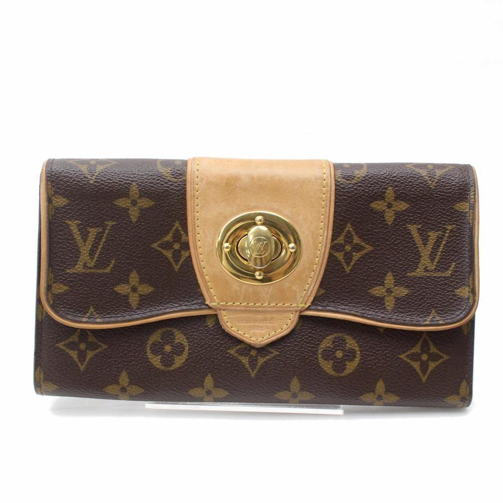Authentic Louis Vuitton Long Wallet Boetie Brown Monogram