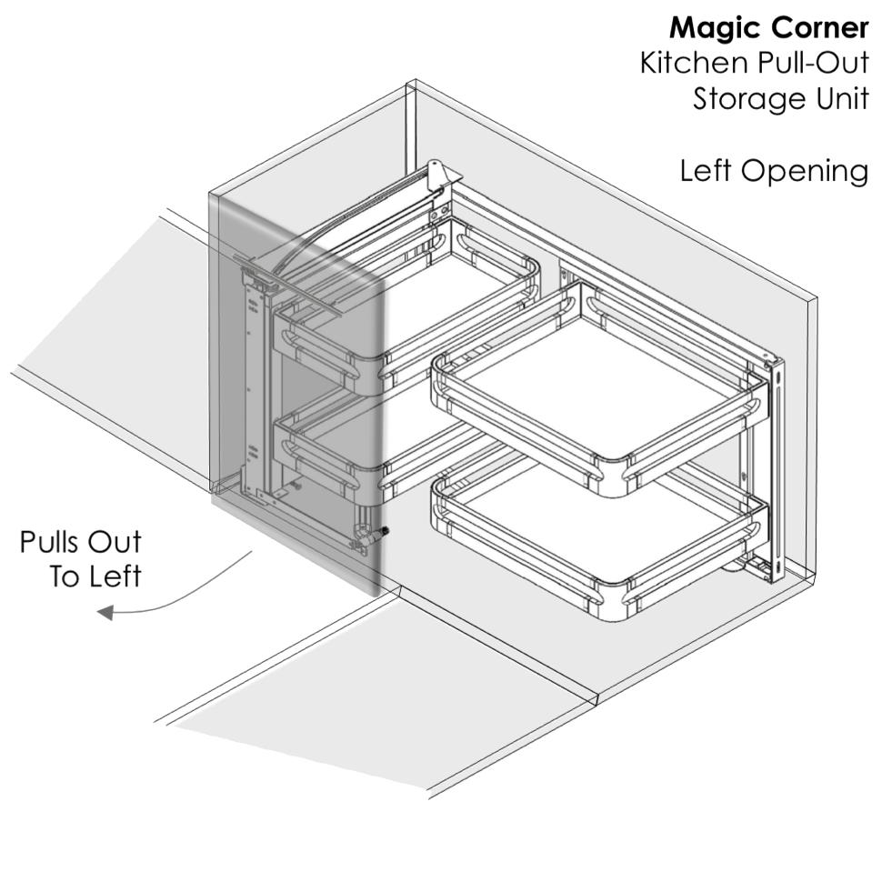 Best Elite Magic Corner Pull Out Kitchen Storage Unit For 400 x 300
