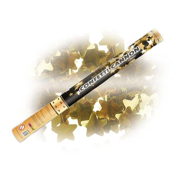 Un canon à étoiles dorées, une originalité éblouissante pour vos soirées et cérémonies. Que ce soit un anniversaire ou pour une cérémonie à thème, mettez l'ambiance comme jamais avec ces canons à conféttis
