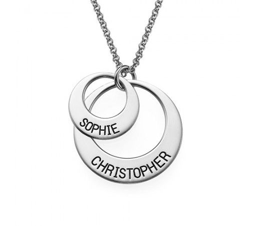 Personalized jewelry for moms disc engraved name necklace in personalized jewelry for moms disc engraved name necklace in sterling silver aloadofball Gallery
