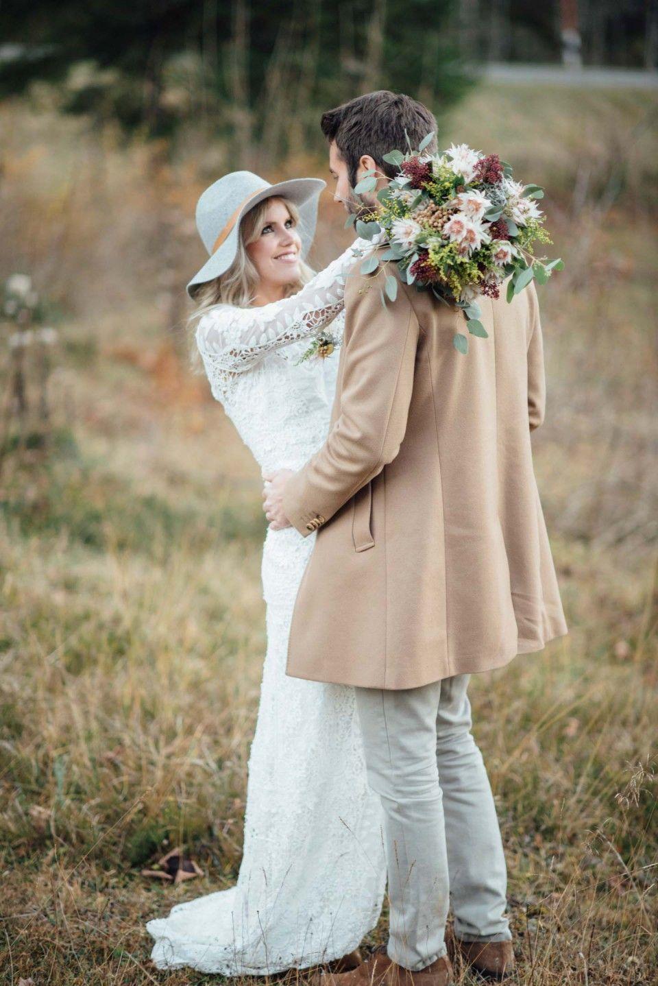 Eine Indian Summer-Braut in den Alpen | Brautsträuße, Brautkleider ...