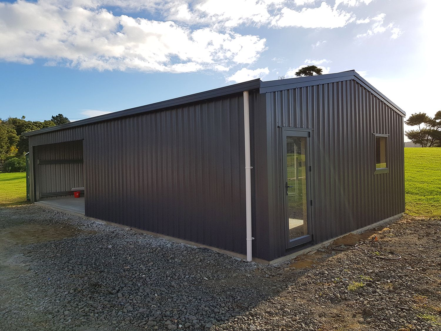 A great example of a Shed Co garage, single roller door