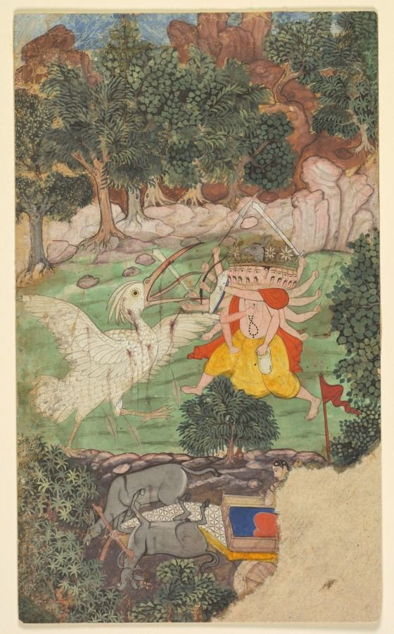 The Battle of Ravana and Jatayu: A Leaf from the Ramayana | Ancient indian  art, Historical artwork, Cleveland museum of art