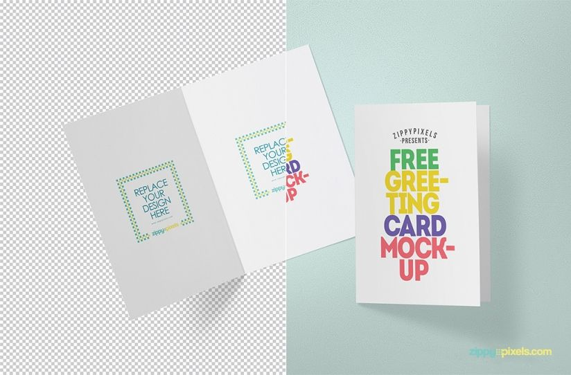 Free Greeting Card Mockup 2668 MB