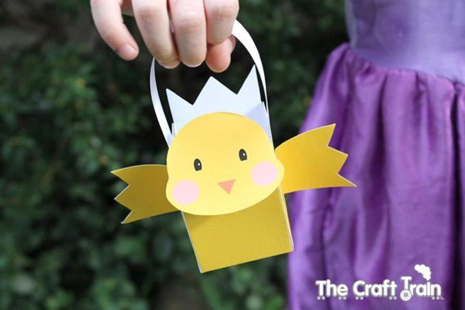 DIY Easter : DIY Printable Easter Chick Baskets