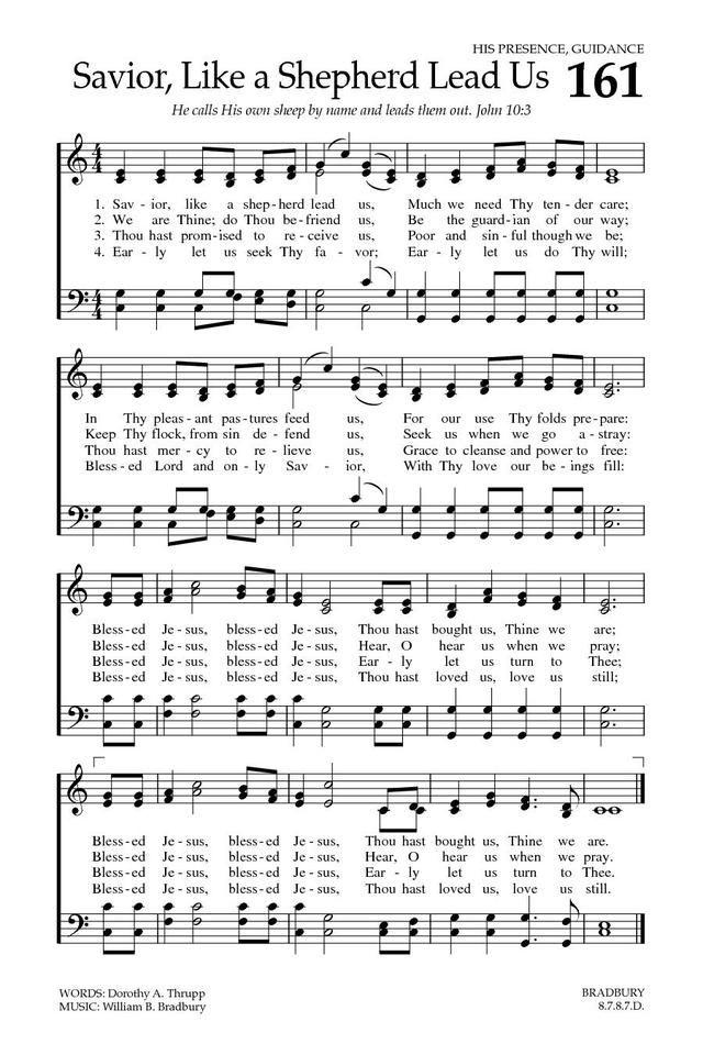 Baptist Hymnal 2008 161  Savior, like a shepherd lead us - Hymnary