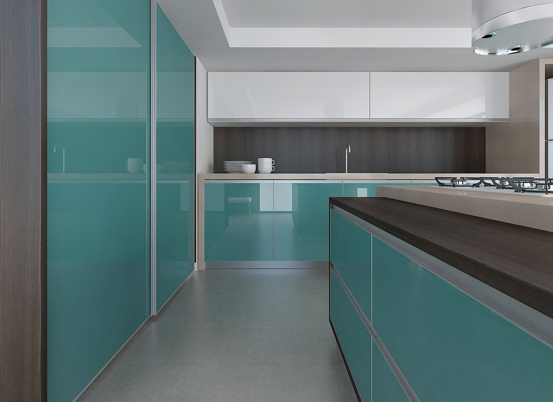 cozinhas tons azuis  Pesquisa Google  Inspirações cozinha pequena  Pintere # Cozinha Planejada Na Cor Azul Turquesa