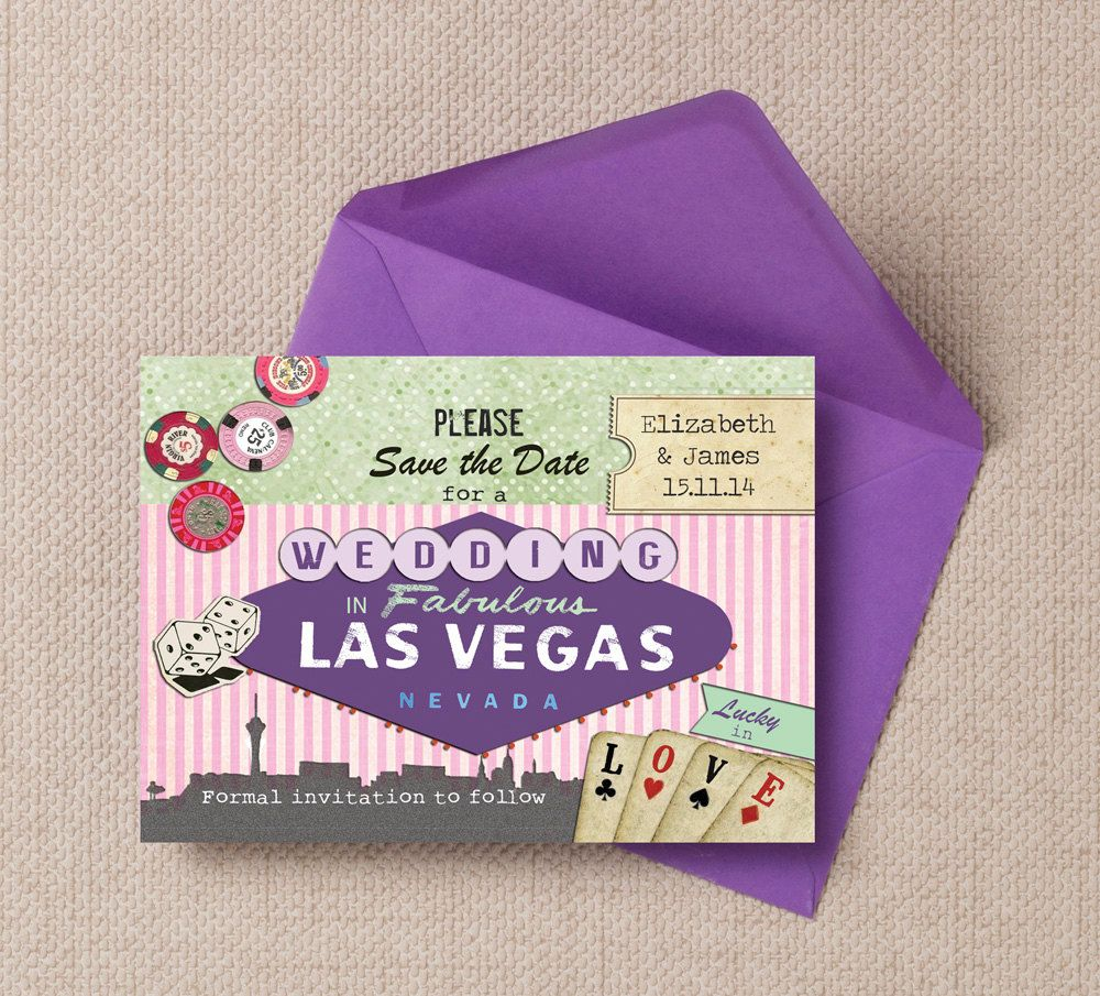 Vintage Las Vegas Themed Wedding Save the