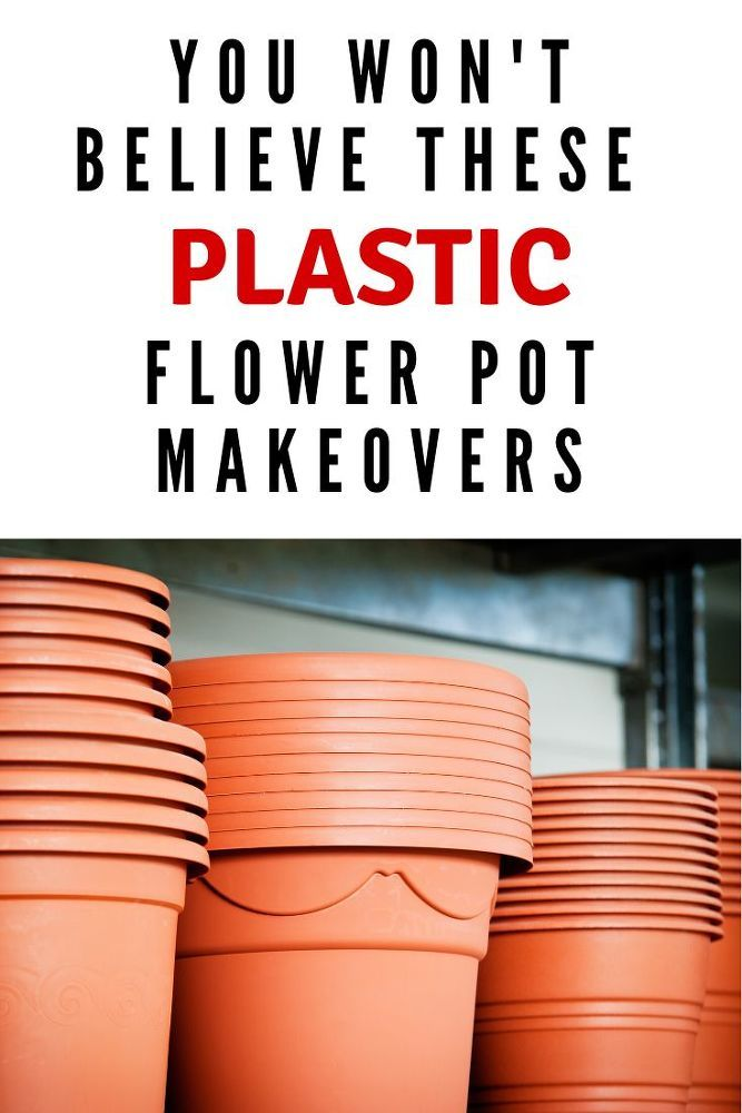 10 DIY Plastic Flower Pot Makeover Ideas is part of Plant pot diy, Plastic flower pots, Flower pots, Cheap flower pots, Plastic flowers, Flower pots outdoor - If you want to upgrade you plastic flower pots check these 10 makeover decorating pot crafts  Pick some up at the dollar store and start painting  diy   repurpose   dollar store  dollar store crafts   crafts  planting   pots   gardening   diy dollarstore