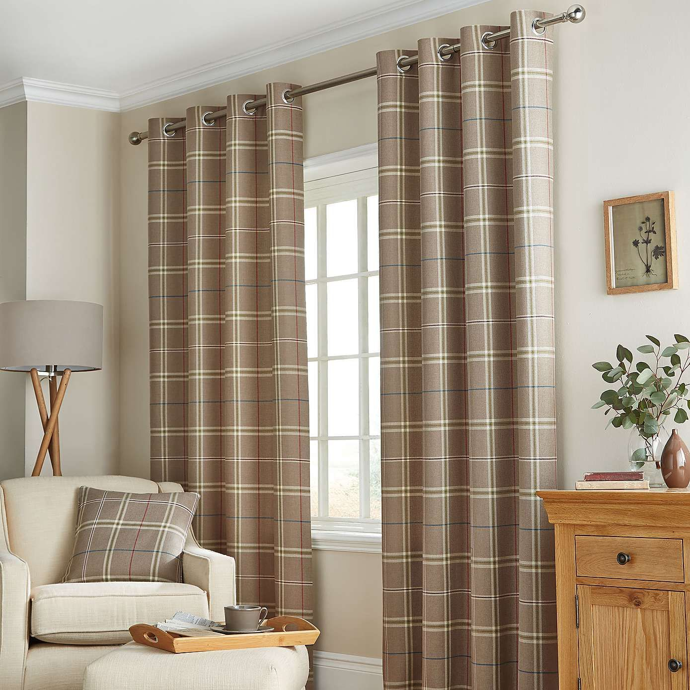 Dunelm Home: Lomond Lined Eyelet Curtains