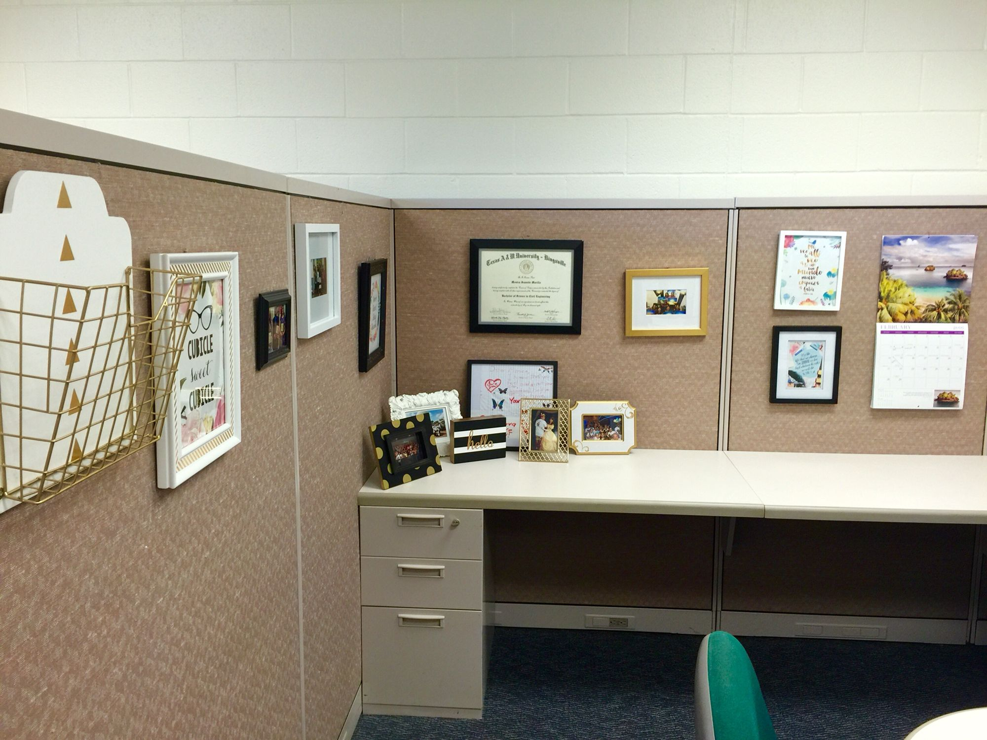 decorating office desk. My Cubicle Decor And Organization: Going For A White, Black, Gold Theme Decorating Office Desk