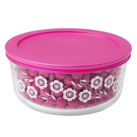 Pyrex® Simply Store® 4 Cup Flowers Storage Dish W/ Berry Lid (Pink)Simply  Store® 4 Cup Flowers Storage Dish W/ Berry Lid (Pink)