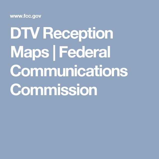 Dtv Gov Reception Maps on
