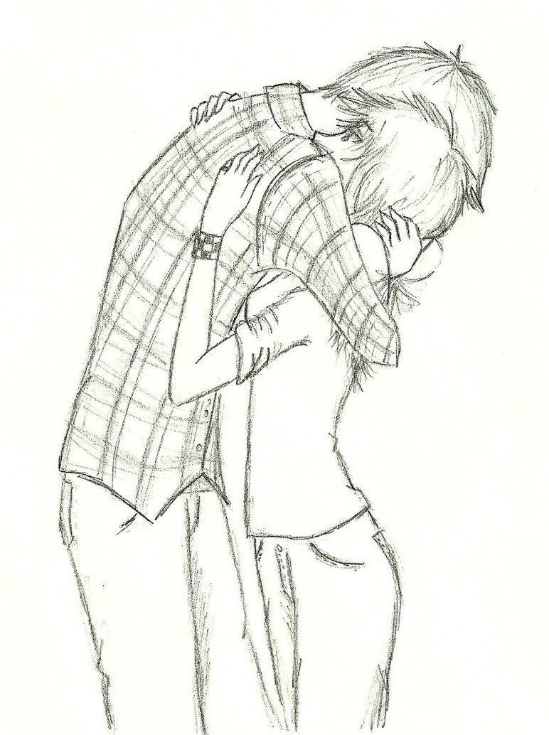 Drawings Couples Hugging