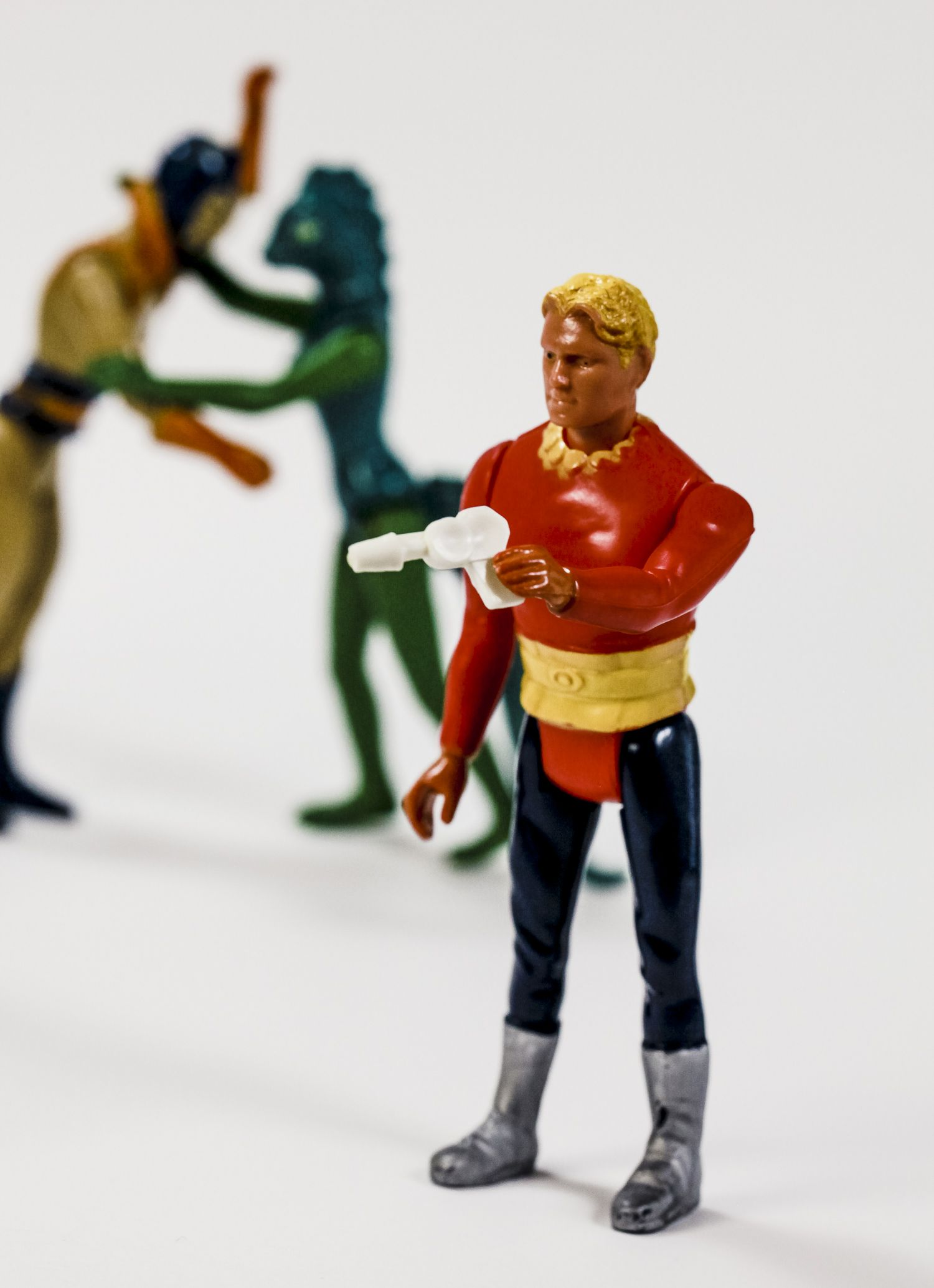 Lot of 4 vintage Flash Gordon action figures with rare ...