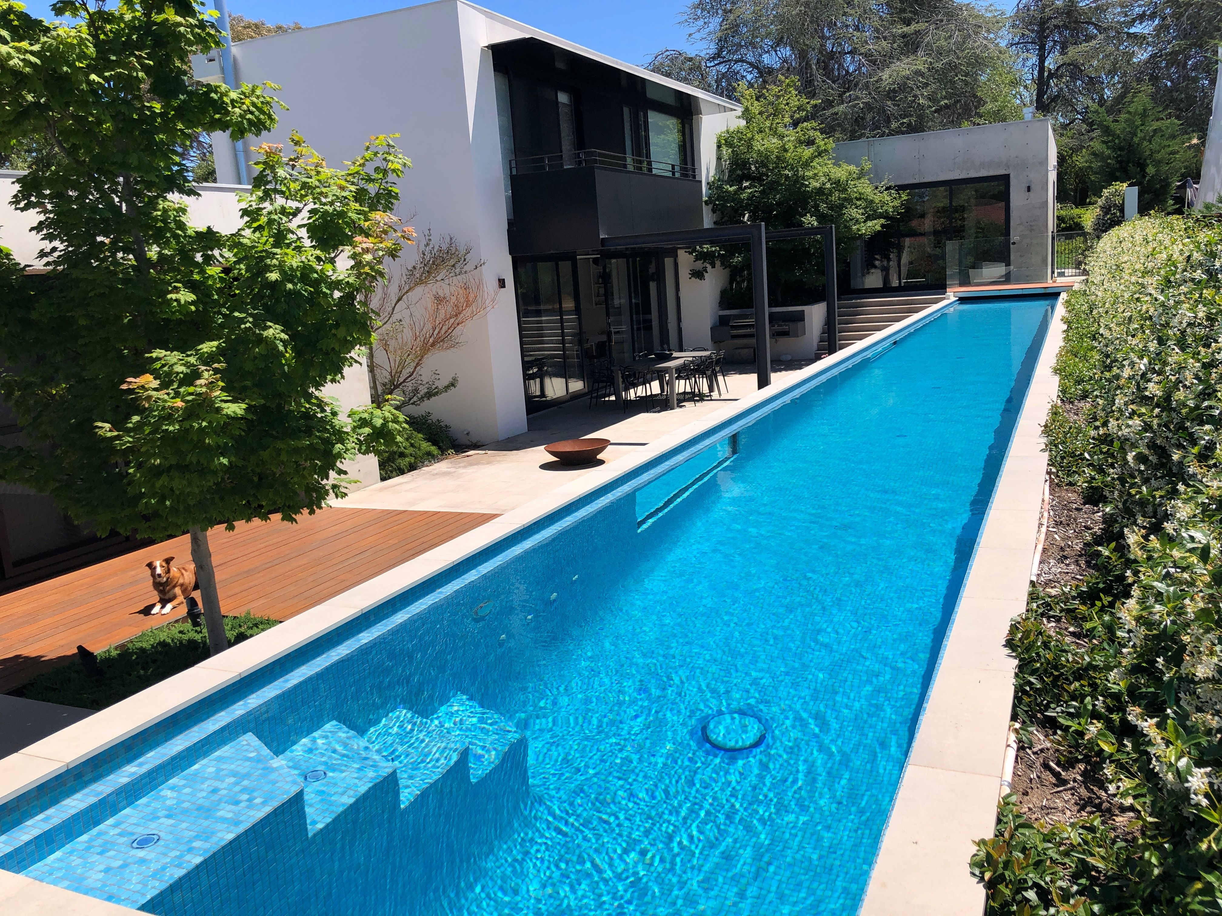 Above Ground 25m Lap Pool 1 2m Height And 2 4m Wide With Steps For Easy Entry Lap Pools Backyard Lap Pool Designs Garden Pool Design