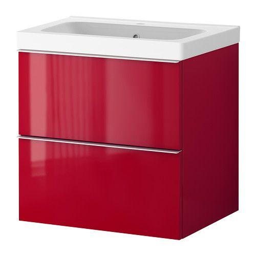 20++ Red bathroom vanities cabinets ideas