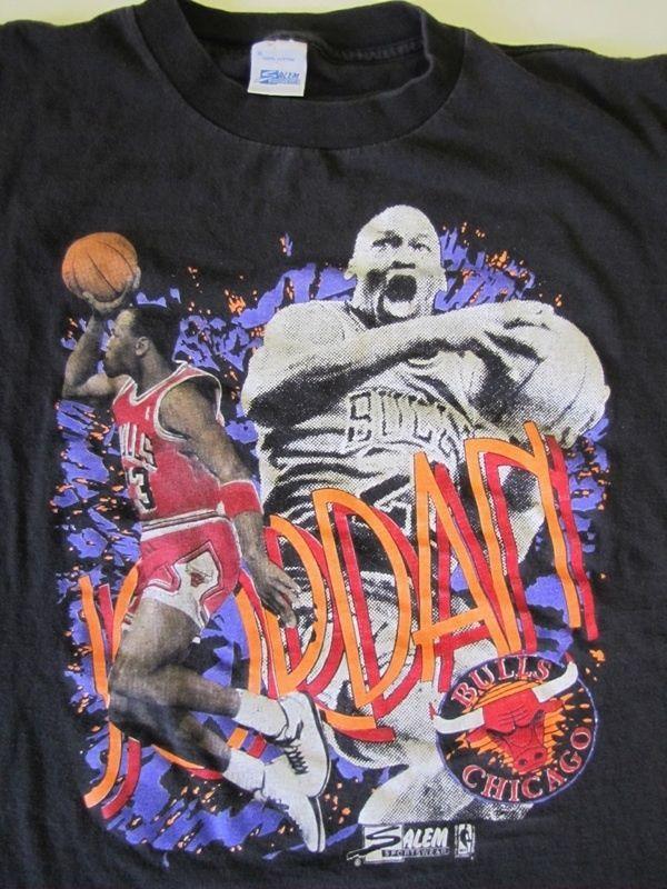 Vintage MICHAEL Air JORDAN Caricature T Shirt Chicago Bulls NBA Basketball  XL 812068a91