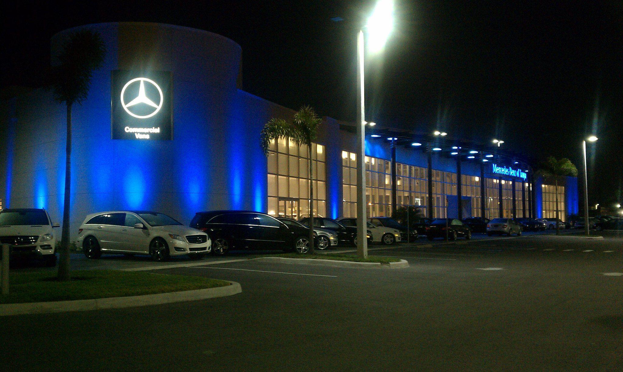 Mercedes Benz Of Tampa Lights Up The Sky Mercedes Benz Benz Mercedes