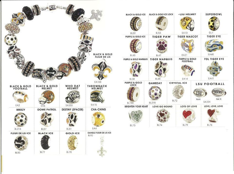 68f9f384d Saints and LSU Pandora Charms! | Pandora / Charms | Pandora charms ...