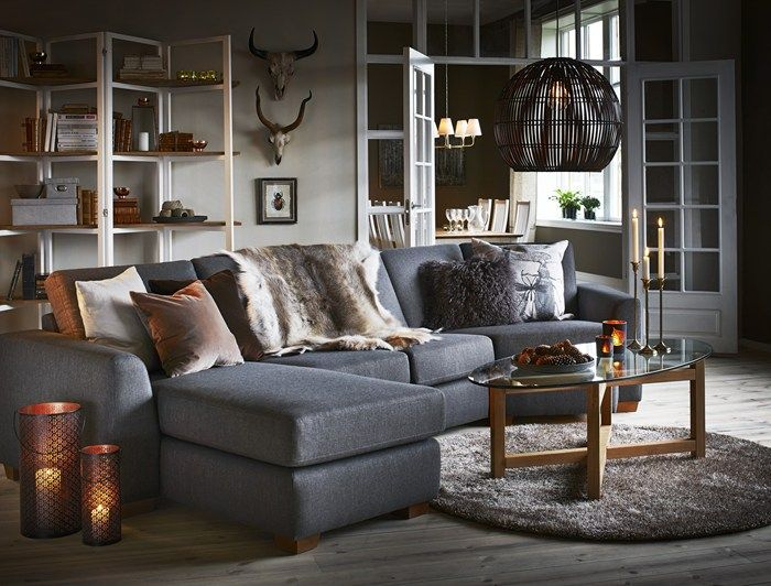 Sit Down kombinationssoffa i tyg Hercules brown från Mio Vardagsrum Pinterest Living room