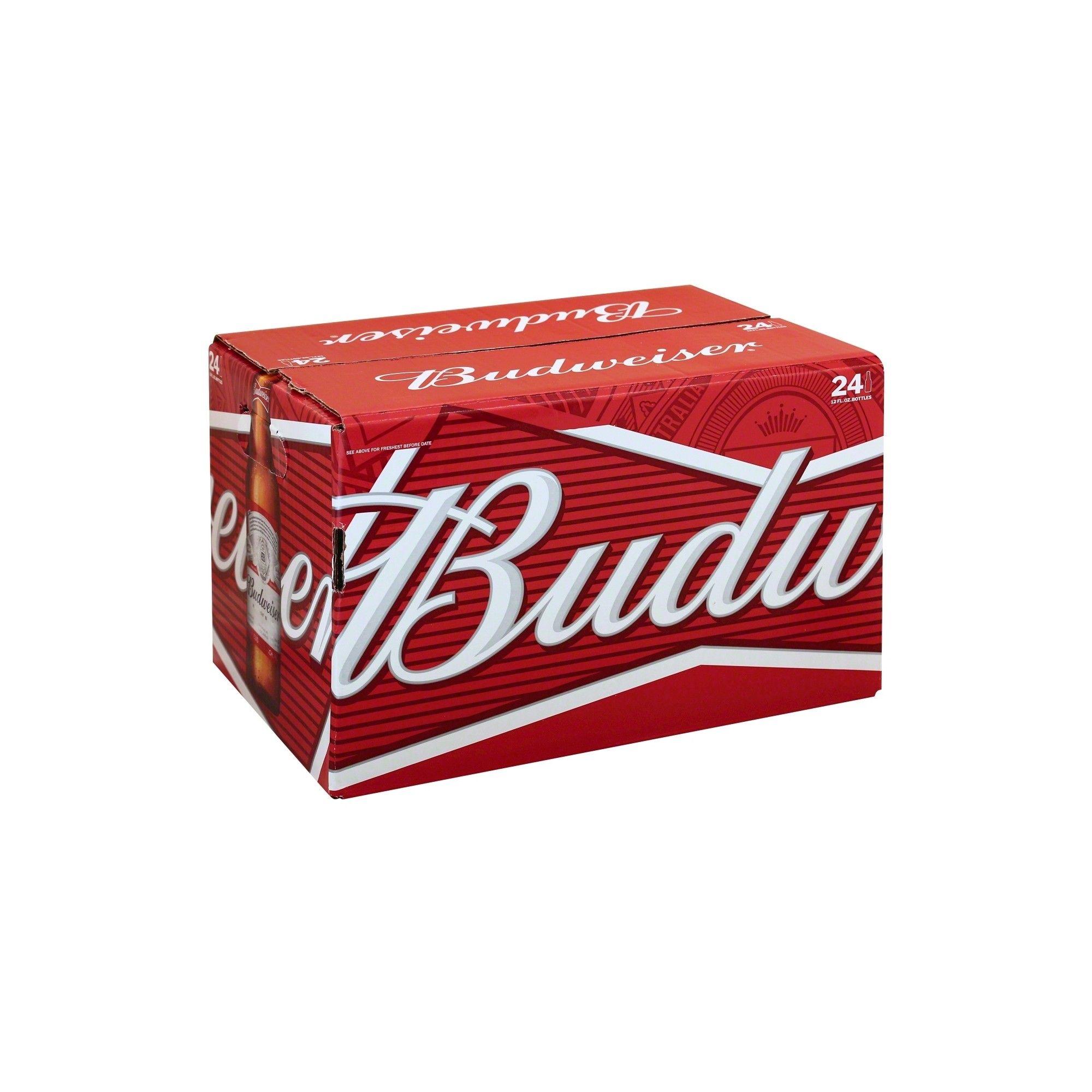 Budweiser Lager Beer 24pk 12 Fl Oz Bottles Budweiser Lager Beer Budweiser Beer