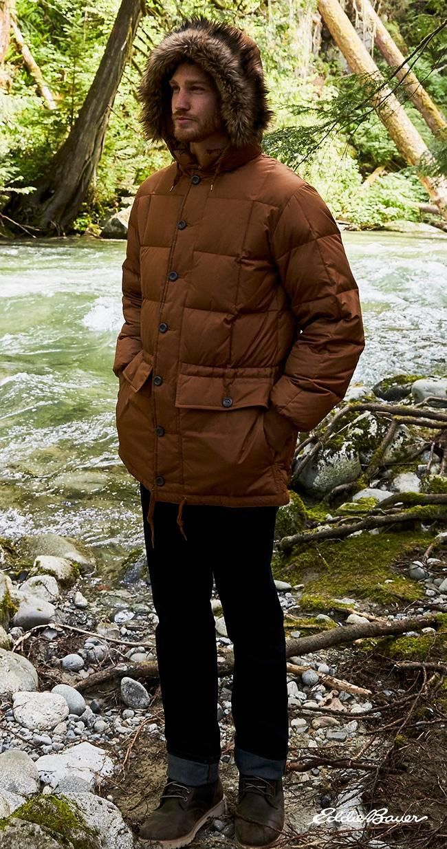 An Eddie Bauer Original, the B-9 Down Parka. First created for the ...
