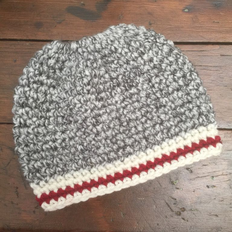 Crochet Messy Bun Hat Pattern And Video Tutorial Single Crochet