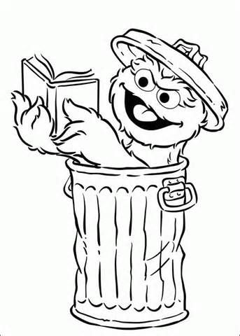 Oscar Grouch Coloring Sheets Projects To Try Sesame